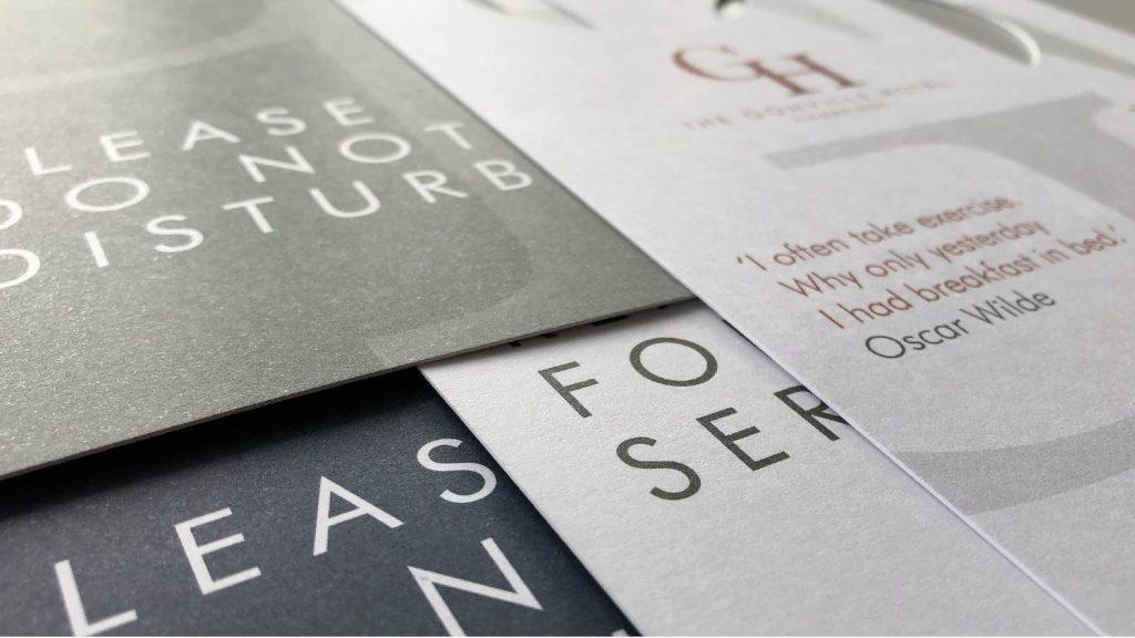Door hangers designed and printed by BAAM